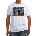 Starry - 2 Briards Fitted T-Shirt