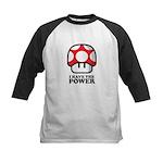 Power Mushroom Kids Baseball Jersey