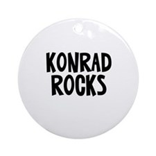 Konrad Rocks Ornament (Round)