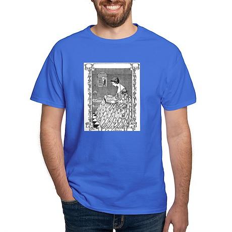 Reading Woman (Renaissance) Dark T-Shirt