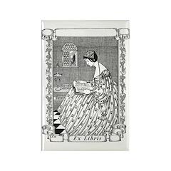 Reading Woman (Renaissance) Rectangle Magnet (10 p