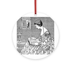 Reading Woman (Renaissance) Ornament (Round)