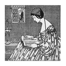 Reading Woman (Renaissance) Tile Coaster