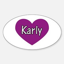 Karly Oval Decal