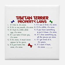 Tibetan Terrier Property Laws 2 Tile Coaster
