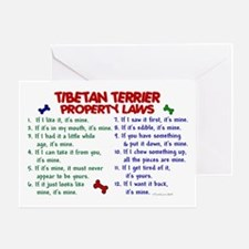 Tibetan Terrier Property Laws 2 Greeting Card