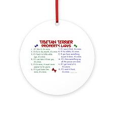 Tibetan Terrier Property Laws 2 Ornament (Round)