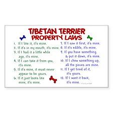 Tibetan Terrier Property Laws 2 Sticker (Rectangul
