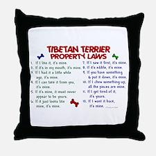 Tibetan Terrier Property Laws 2 Throw Pillow