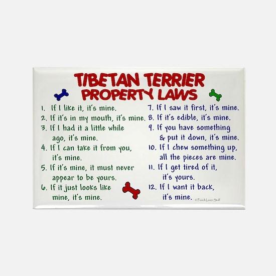 Tibetan Terrier Property Laws 2 Rectangle Magnet
