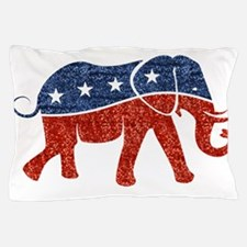 glitter republican elephant Pillow Case