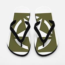 WW2 American star Flip Flops