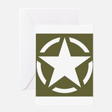 WW2 American star Greeting Cards