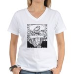 Reading Woman Women's V-Neck T-Shirt