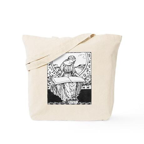 Reading Woman Tote Bag