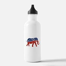 glitter republican ele Water Bottle