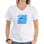Icy Maya Jaguar Head Women's V-Neck T-Shirt