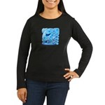 Icy Maya Jaguar Head Women's Long Sleeve Dark T-Sh