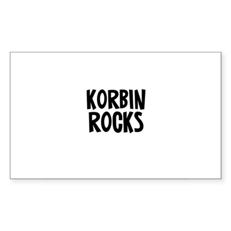 Korbin Rocks Rectangle Sticker