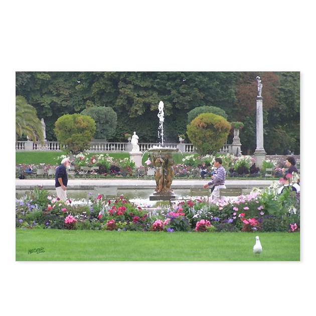 Jardins du luxembourg paris france postcards 8 by for Cafe jardin du luxembourg