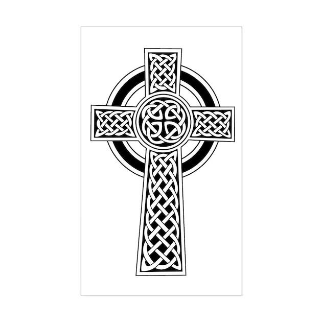 Celtic Knot Cross Rectangle Decal by thespankdmonkey