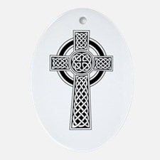 Celtic Knot Cross Oval Ornament
