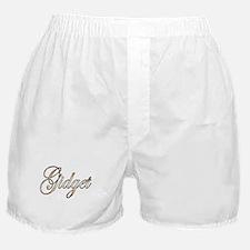 Gold Gidget Boxer Shorts