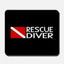 Diving: Diver Flag & Rescue Diver Mousepad