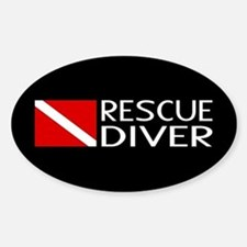 Diving: Diver Flag & Rescue Diver Decal