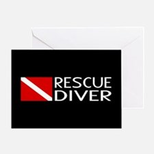 Diving: Diver Flag & Rescue Diver Greeting Card