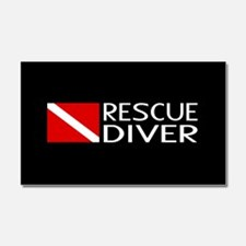 Diving: Diver Flag & Rescue Div Car Magnet 20 x 12