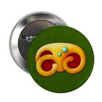 "Fiery Maya Jaguar Claw 2.25"" Button (100 pack)"