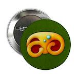 "Fiery Maya Jaguar Claw 2.25"" Button"
