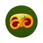 "Fiery Maya Jaguar Claw 3.5"" Button (100 pack)"