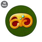 "Fiery Maya Jaguar Claw 3.5"" Button (10 pack)"