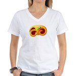 Fiery Maya Jaguar Claw Women's V-Neck T-Shirt