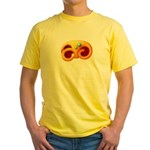 Fiery Maya Jaguar Claw Yellow T-Shirt