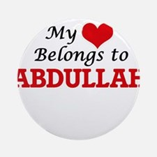 My heart belongs to Abdullah Round Ornament