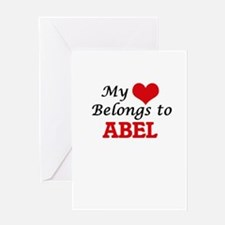 My heart belongs to Abel Greeting Cards