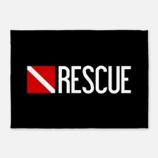 Diving: Diving Flag & Rescue 5'x7'Area Rug
