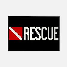 Diving: Diving Flag & Rescue Rectangle Magnet