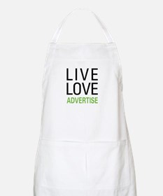 Live Love Advertise Apron