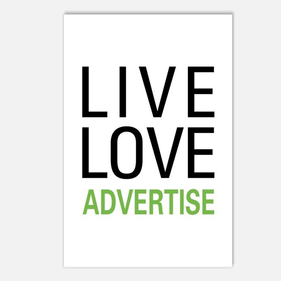 Live Love Advertise Postcards (Package of 8)