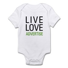 Live Love Advertise Infant Bodysuit