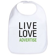 Live Love Advertise Bib