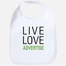 Live Love Advertise Bib