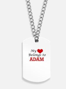 My heart belongs to Adam Dog Tags