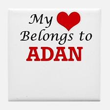 My heart belongs to Adan Tile Coaster