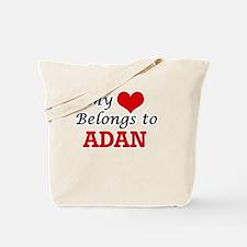 My heart belongs to Adan Tote Bag
