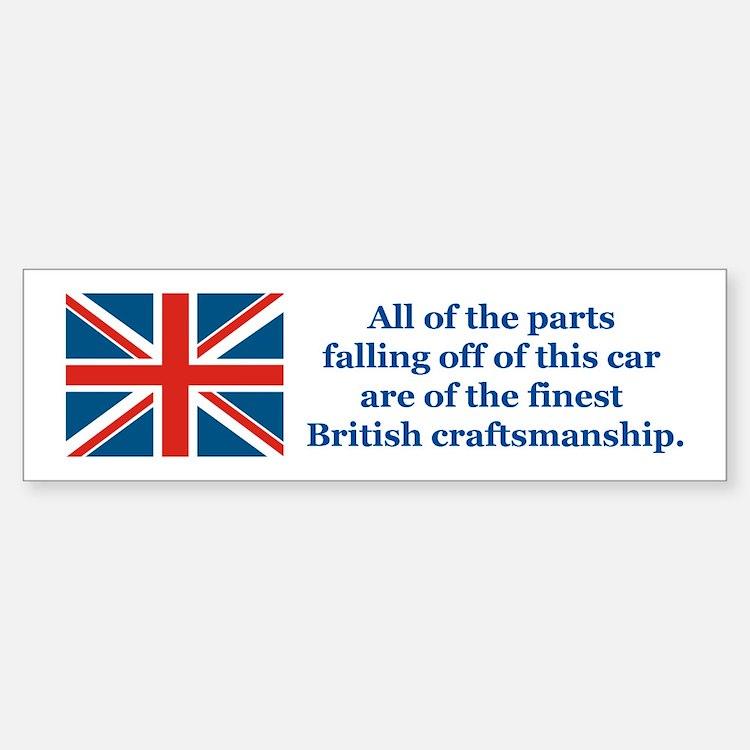British Car Bumper Bumper Bumper Sticker